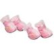 Pet Life Pink Ultra Fur Comfort Dog Boots LG