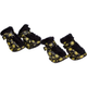 Pet Life Yellow and Black Comfort Dog Boots XS