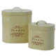 One for Pets Treat Canister Set Cream