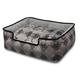 PLAY Royal Crest Black Lounge Dog Bed XLarge
