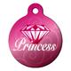Diamond Princess Pet ID Tag Large