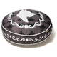 PLAY Cameo Black Round Dog Bed Medium