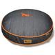 PLAY Denim and Orange Round Dog Bed Large