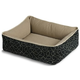 Crypton Loopy Black Bumper Dog Bed Medium