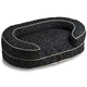 Crypton Loopy Black Oval Bolster Dog Bed Large