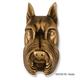 Schnauzer Dog Head Door Knocker