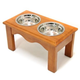 Crown Pet Elevated Double Pet Diner Chestnut XL