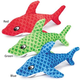 Grriggles Sizzle Shark Dog Toy Red