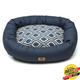West Paw Cotton Bumper Dog Bed Cobalt/Groove XXL