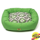 West Paw Cotton Bumper Dog Bed Emerald/Ikat XXL