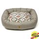 West Paw Cotton Bumper Dog Bed Walnut/Ikat XXL