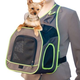 KH Mfg Classy Go Brown/Green Sling Dog Carrier