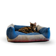 KH Mfg Classy Lounger Gray/Blue Dog Bed Large