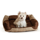 KH Mfg Classy Lounger Tan/Chocolate Dog Bed Large
