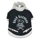 Pet Life Skull and Bones Pet Coat Black/White MD