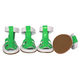 Pet Life PVC Waterproof Pet Sandal Shoes Green LG