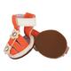 Pet Life PVC Waterproof Pet Sandal Shoes Orange LG