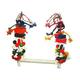 Happy Beaks Rope Bird Swing With Blocks Large