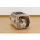 Richell Double Door Pet Carrier Brown Medium