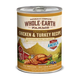 Whole Earth Farms Chicken/Turkey Can Dog Food 12pk