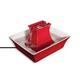 Drinkwell Red Ceramic Pagoda Pet Fountain