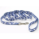 Pet Attire Bones Dog Leash 1in Blue Plaid