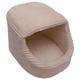 Iconic Pet Luxury Snugglez Cream Igloo Pet Bed LG