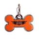 Harley Davidson Orange Bone Pet ID Tag