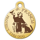 St Francis Protect This Dog Pet ID Tag Large