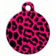 Pink Leopard Pet ID Tag Small