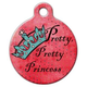 Pretty Pretty Princess Pet ID Tag Large