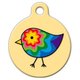 Colorful Chick Pet ID Tag Small