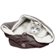 Majestic Pet 17 inch Chocolate Suede Burrow Bed