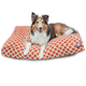 Majestic Outdoor Orange Bamboo Rectangle Pet Bed L
