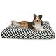 Majestic Outdoor Black Chevron Rectangle Pet Bed L