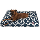 Majestic Outdoor Navy Trellis Rectangle Pet Bed LG