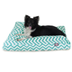 Majestic Outdoor Teal Chevron Rectangle Pet Bed SM