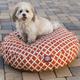 Majestic Pet Outdoor Orange Bamboo Round Pet Bed L