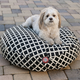 Majestic Pet Outdoor Black Bamboo Round Pet Bed LG
