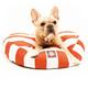 Majestic Pet Outdoor Orange Stripe Round Pet Bed L