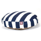 Majestic Pet Outdoor Navy Stripe Round Pet Bed SM