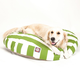 Majestic Pet Outdoor Sage Stripe Round Pet Bed LG