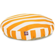 Majestic Pet Outdoor Yellow Stripe Round Pet Bed L