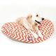 Majestic Outdoor Orange Chevron Round Pet Bed SM