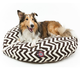 Majestic Outdoor Chocolate Chevron Round Pet Bed L