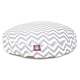 Majestic Pet Outdoor Grey Chevron Round Pet Bed SM