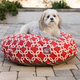 Majestic Pet Outdoor Red Links Round Pet Bed LG
