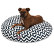 Majestic Pet Outdoor Navy Chevron Round Pet Bed LG