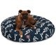 Majestic Outdoor Navy Sea Horse Round Pet Bed SM