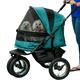 Pet Gear NO-ZIP Double Pet Stroller Pine Green